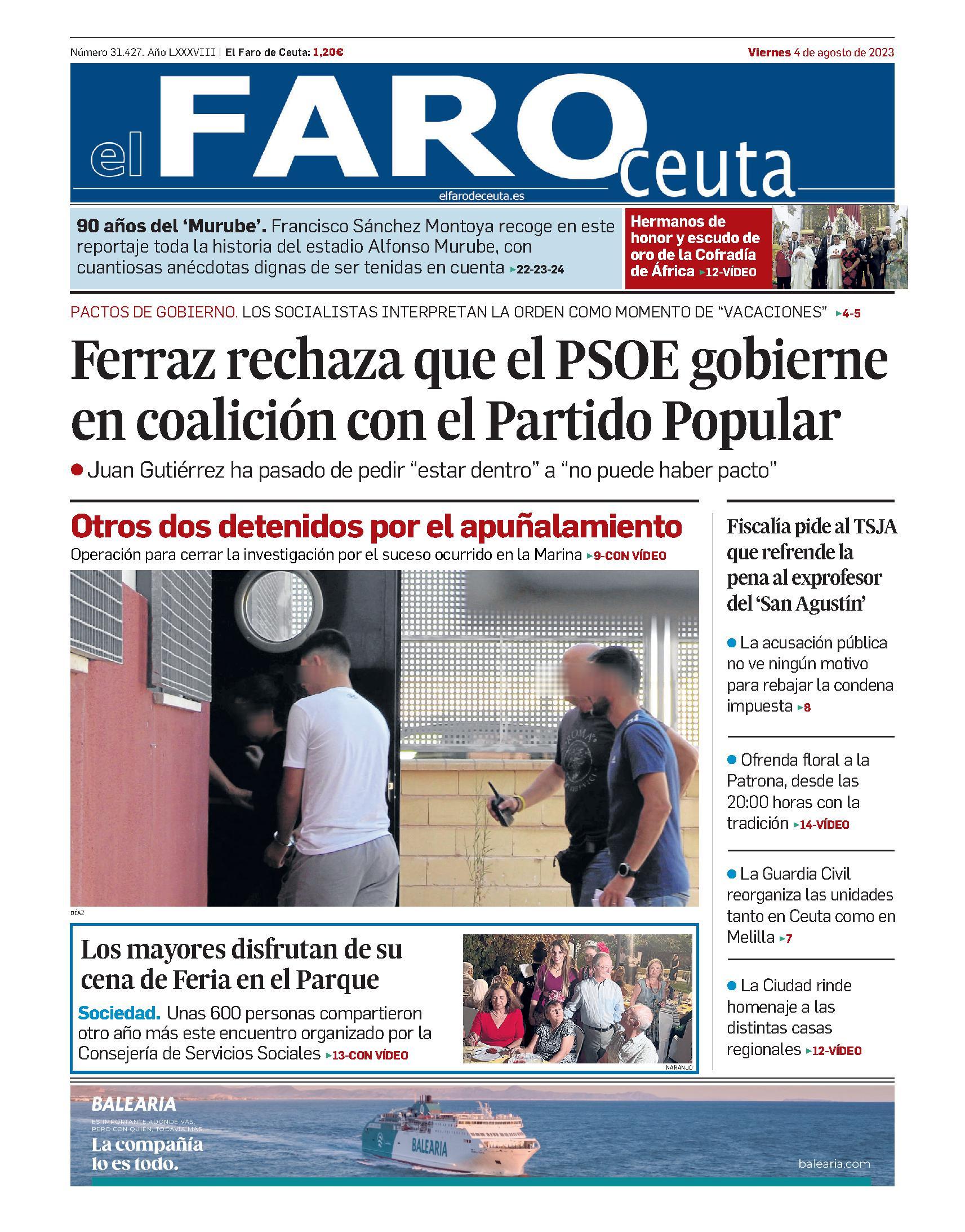 Portada de El Faro de Ceuta